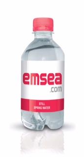 emsea branded bottled water