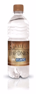Sky Atlantic branded bottled water