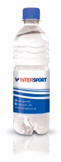 Intersport branded bottled water
