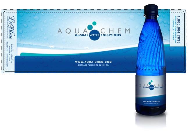 water bottles labels
