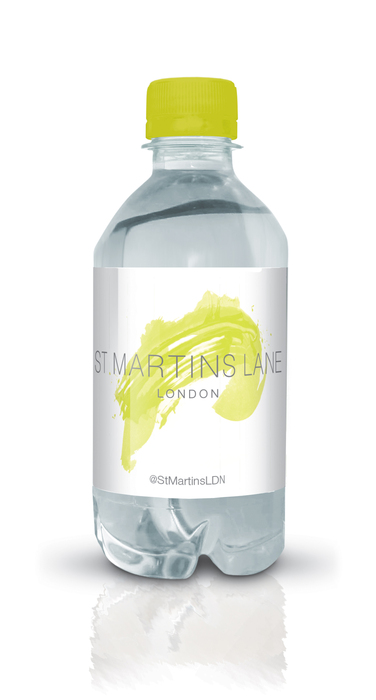 St Martins Lane branded bottled water