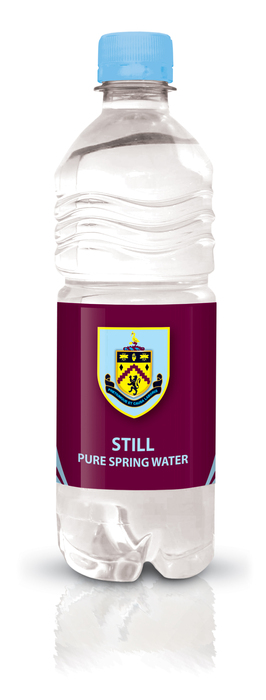 Burnley FC branded bottled water