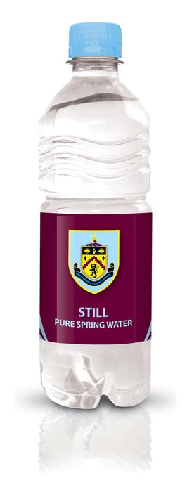 Burnley FC branded bottled water