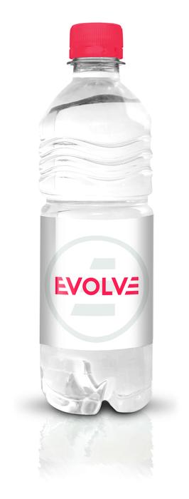 Evolve branded bottled water